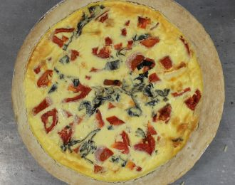 Tomato, Brie, Basil, & Red Onion Quiche