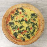 Spinach, Pepper & Feta Cheese Quiche