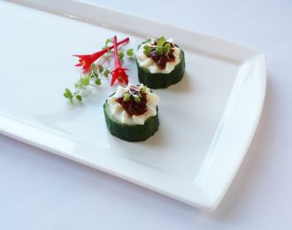 Cucumber Cup with Whipped Feta