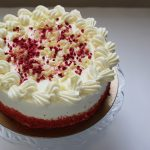 Raspberry Red Velvet Cake with Cream Cheese Icing