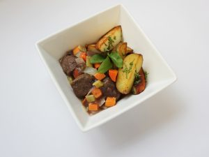 Venison and Roasted Potatoes