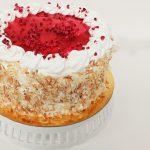 Raspberry & Coconut Meringue Cake