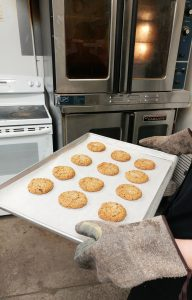 vegan pb cookie- oven